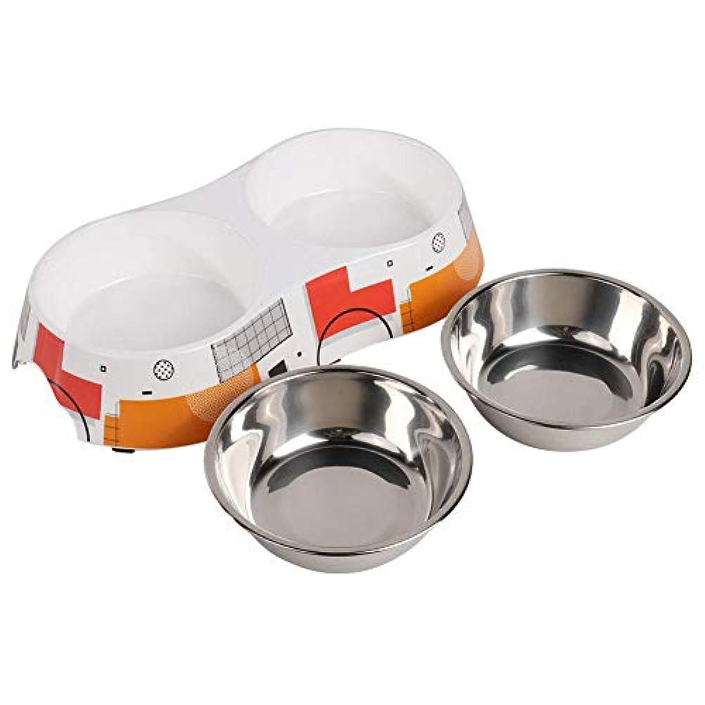 ペットボウル 犬 食器 犬 餌入れ 皿 滑り止め こぼれ防止 ステンレス鋼