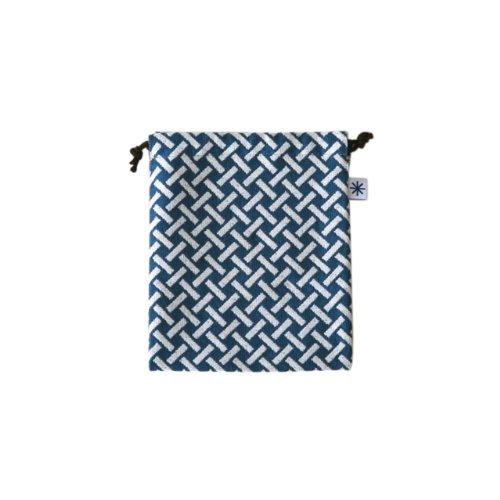 米織小紋・巾着袋(中) (網代)