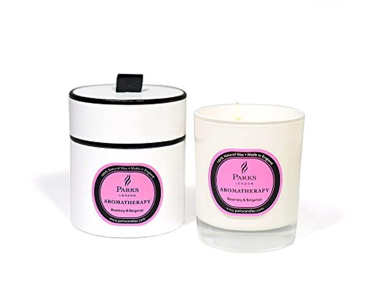 狼カップ美容師(Rosemary & Bergamot) - Parks Aromatherapy Natural Wax Candle, Rosemary & Bergamot, 235g, Giftboxed