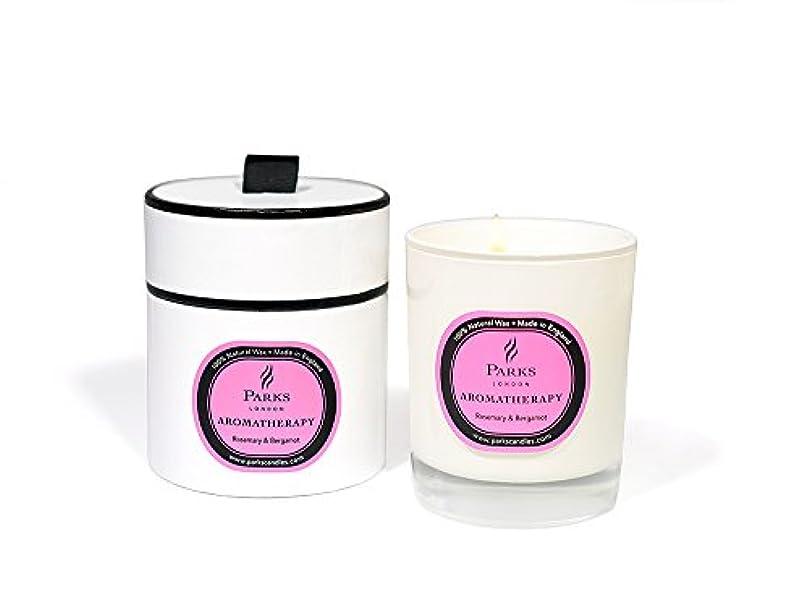 代わりに湾小数(Rosemary & Bergamot) - Parks Aromatherapy Natural Wax Candle, Rosemary & Bergamot, 235g, Giftboxed