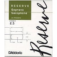 D'Addario  WOODWINDS (ダダリオウッドウインズ)リード レゼルヴ ソプラノサクソフォーン 強度:2.5(10枚入) ファイルドカット DIR1025
