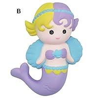 Mangjiu おもちゃ 子供 おもちゃ 新しい かわいいShrilling Pig Squeakyラバーピッグトイリラックストイスクイーズリアルなおもちゃ 創造力無限大 (B)