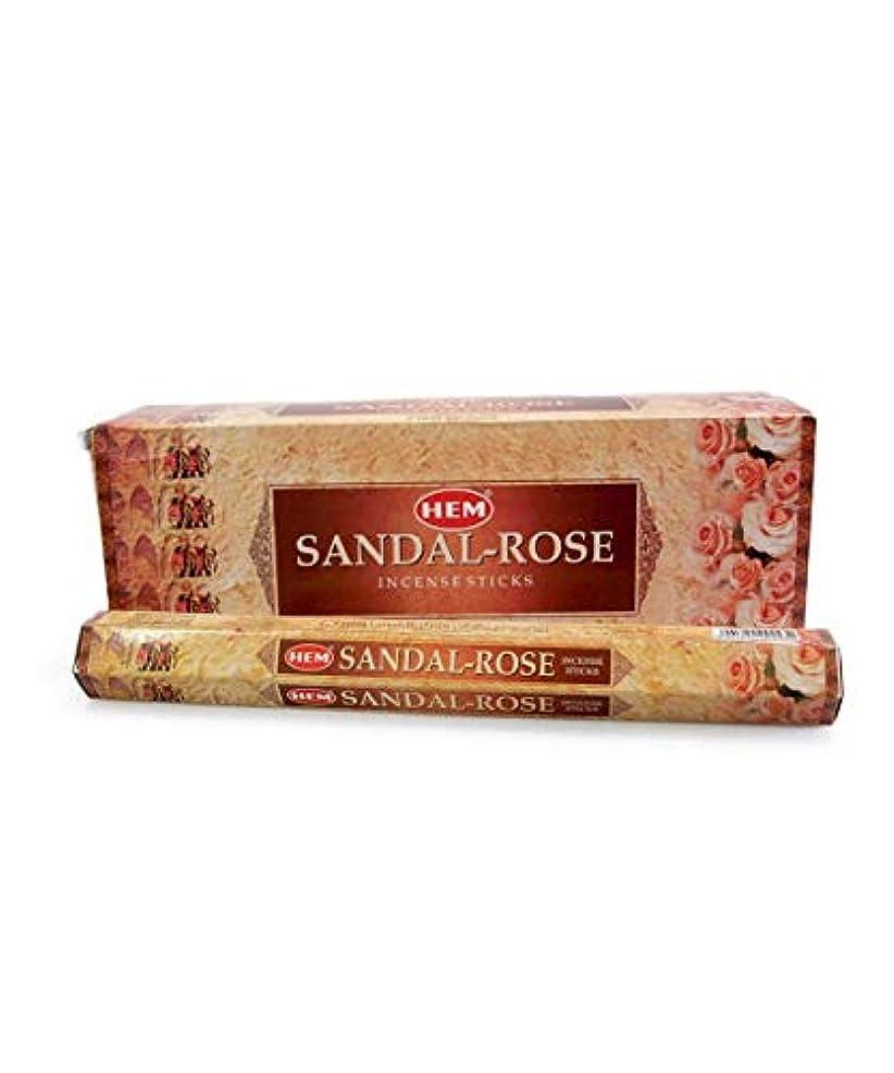 着替える将来のスライスHem Sandal Rose Incense Sticks(9.3 cm X 6.0 cm X 25.5cm, Black)