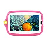 7 inch Kids Tablet 8GB Storage Android 4.4 with 0.3MP Camera 1024 * 600 Tablet PC Kids Tablet With Silicone Cover - Pink