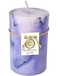 ハンドメイドScented Candle – Long Burningピラー – ラベンダー香り S LAVNDR