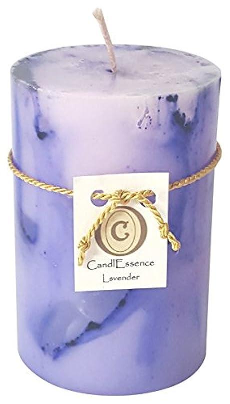 部族自信があるうねるハンドメイドScented Candle – Long Burningピラー – ラベンダー香り S LAVNDR