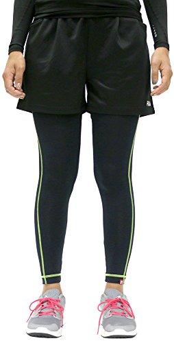 [フィラ] スポーツタイツ ショートパンツ セット スパッツ レディース ランニング フィットネス タイツ スポーツ M ブラック