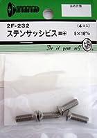 ビーバー(BEAVER) ステンサッシビス 皿+ 5×16mm 2F232