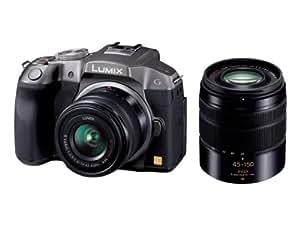 Panasonic ミラーレス一眼カメラ ルミックス G6 ダブルズームレンズキット 標準ズームレンズ/望遠ズームレンズ付属 シルバー DMC-G6W-S
