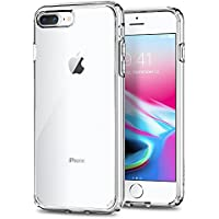 【Spigen】 スマホケース iPhone8 Plus ケース / iPhone7 Plus ケース 対応 全面クリア 耐衝撃 米軍MIL規格取得 ウルトラ・ハイブリッド2 043CS21052 (クリスタル・クリア)