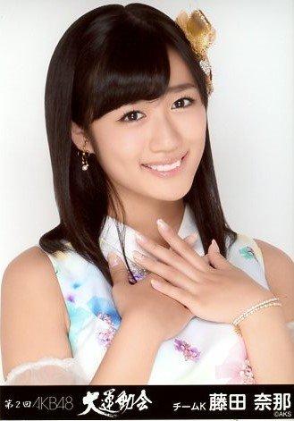 AKB48 公式生写真 第2回 大運動会 チームK 藤田奈那 -