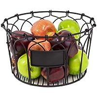 MesaホームChi 1ラウンドバスケットFinished :アンティークブラックサイズ: 12.5984 X 7.0866