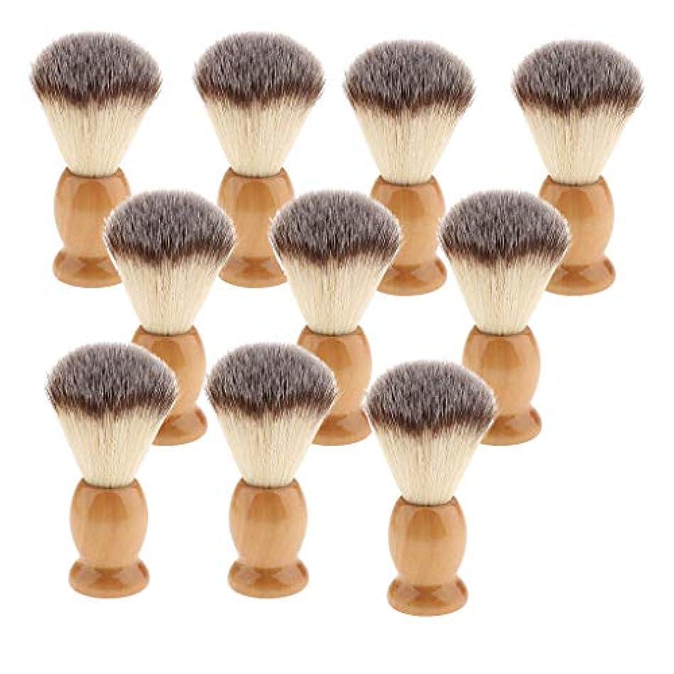 画面スラム街刺すひげブラシ メンズ用 シェービングブラシ 髭剃り ブラシ アナグマ毛シェービングブラシ ギフト 10個