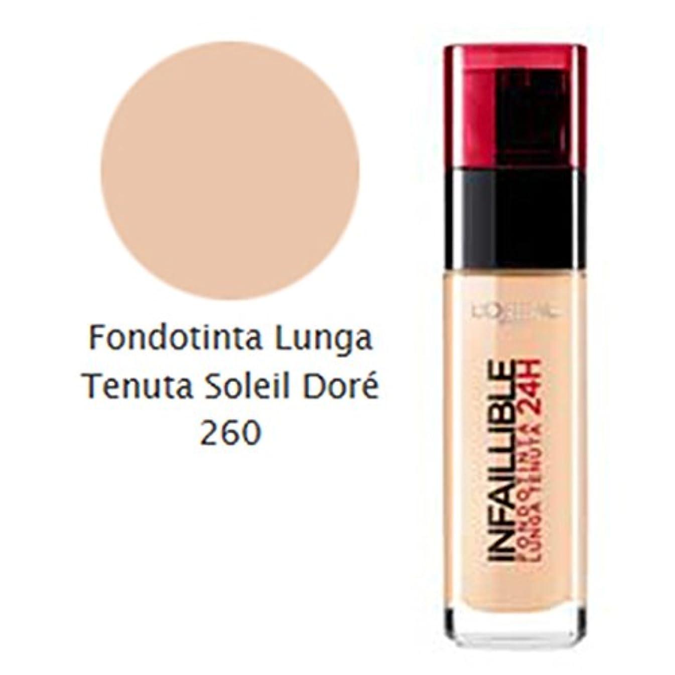 スタイルお手伝いさんパースブラックボロウL'OREAL Foundation Infaillible 24H 260 Soleil Dore Verfassung Und Kosmetik