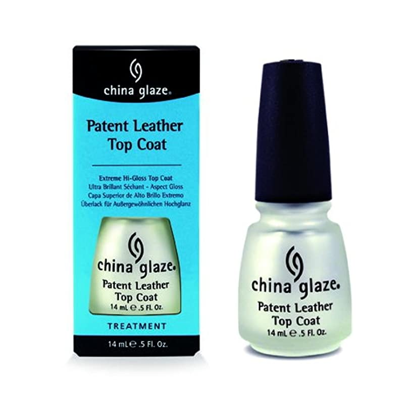 にやにやに向けて出発バンジョー(6 Pack) CHINA GLAZE Patent Leather Top Coat (Extreme Shine) - CGT915 (並行輸入品)