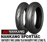 NANKANG(ナンカン) バイク用タイヤ前後セット SPORTIAC 120/70 ZR17&190/50 ZR17 819251