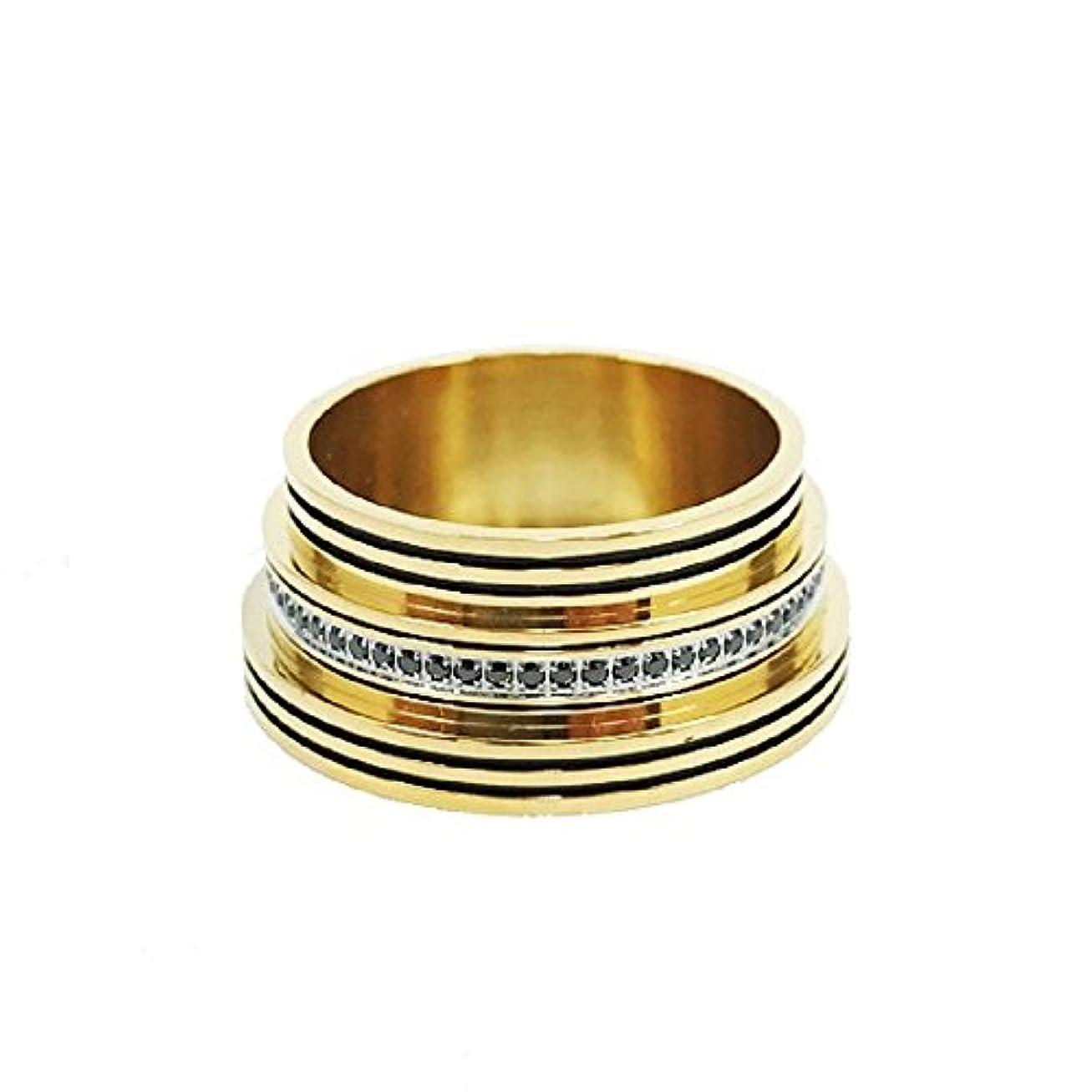 ギャザーシュリンクバイバイCarlos Creations「Trinity -Gold-」トリニティ ★★★★★ 26650MOD Dress Ring/Beauty Ring カスタムパーツ/ドレスパーツ (ブラック)