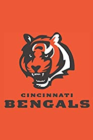 """Cincinnati Bengals Notebook: Minimalist Composition Book   100 pages   6"""" x 9""""   Collage Lined Pages"""