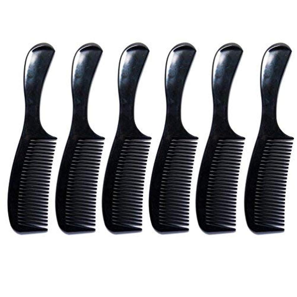 滞在句読点治安判事Luxxii - (6 Pack) 8 inch Black Styling Essentials Round Handle Comb Pocket [並行輸入品]