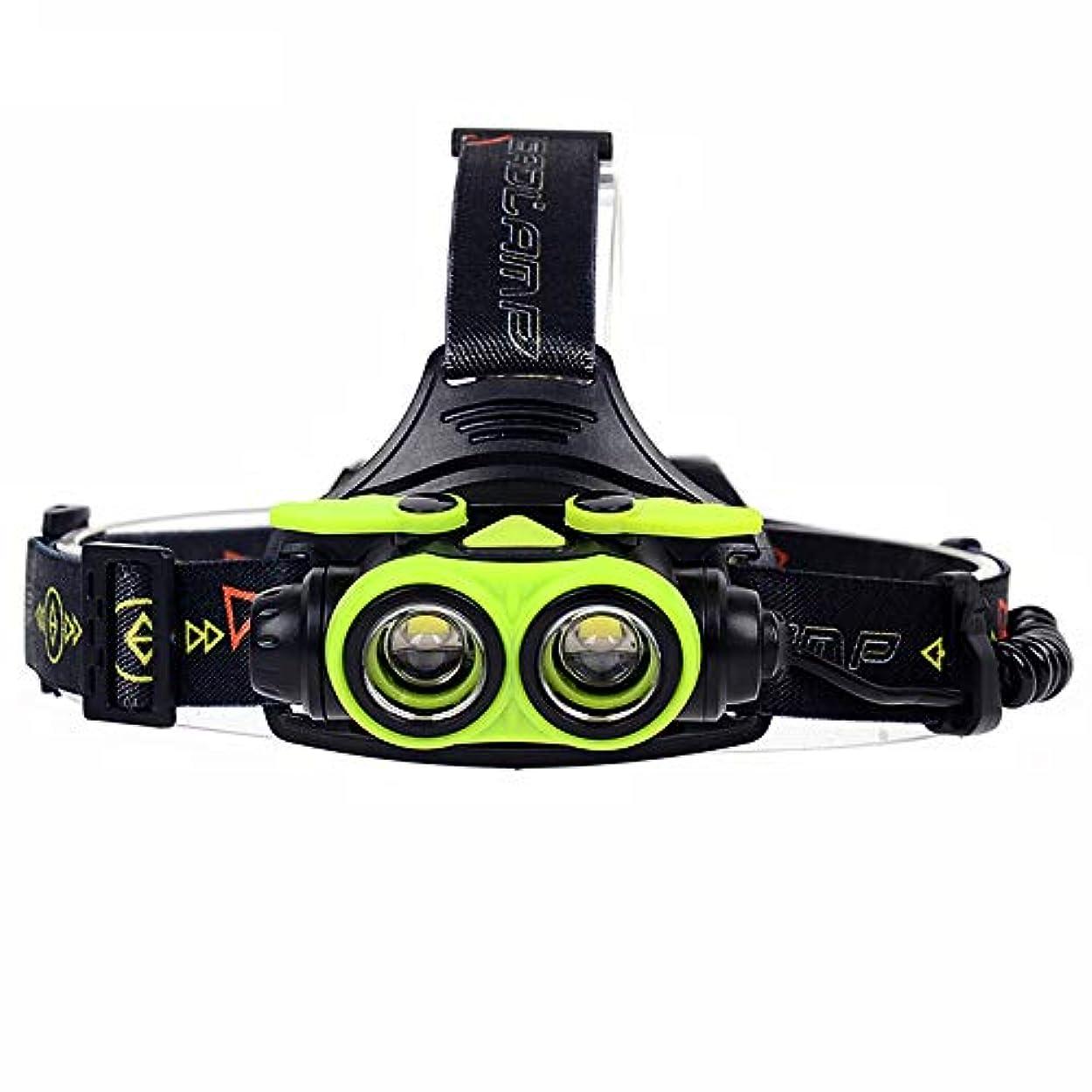 調和帰するスカイズーム LED のヘッドランプ, 6000Lm 2X XM-L2 USB ヘッドライトのヘッド?ライトの釣キャンプの軽い使用 AA/18650 充電式電池