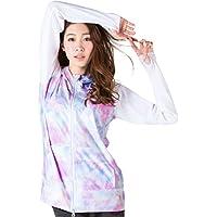 ICEPARDAL(アイスパーダル) 全20色柄 S~3Lサイズ レディース ラッシュガード パーカー 長袖 UVカット UPF50 + YKKダブルジップ使用 IR-7200