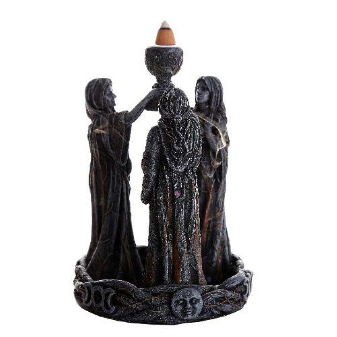 3魔術師(逆流香コーン) 香炉バーナー 逆香炉バーナーオブジェ Mother Maiden Crone Backflow Incense Burner
