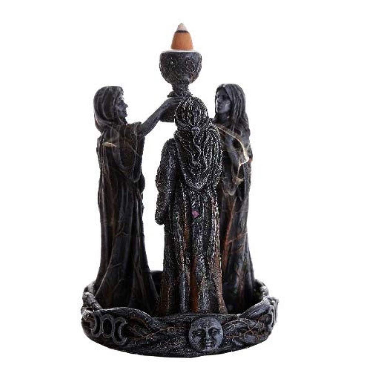 圧縮する空洞億3魔術師(逆流香コーン) 香炉バーナー 逆香炉バーナーオブジェ Mother Maiden Crone Backflow Incense Burner