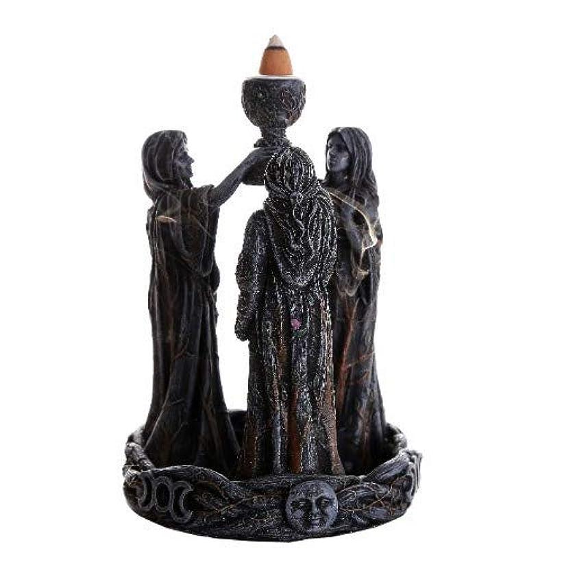 海自然マリナー3魔術師(逆流香コーン) 香炉バーナー 逆香炉バーナーオブジェ Mother Maiden Crone Backflow Incense Burner