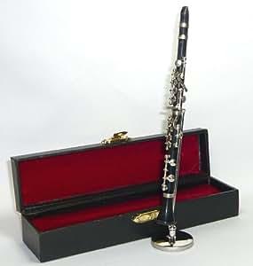 飾り物 ミニチュア楽器 クラリネット「」1/6サイズ
