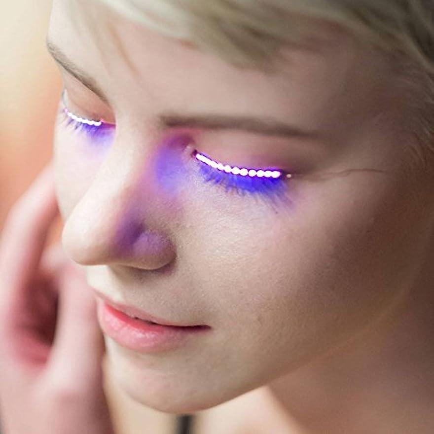 優しさホイットニー十年Hongch 2PCSつけまつげは、ルミナスのLED 毎日のためのファッションのプロフェッショナル 防水輝きます メイクアップツール