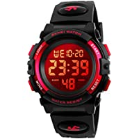 Kids Digital Sports Watch for Boys Girls, Boy Waterproof Casual Quartz Led Watches with Alarm Stopwatch Wristatches