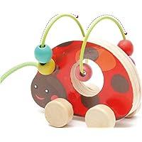 HuaQingPiJu-JP かわいい木製のカラフルなアバカスの円のおもちゃEducationnalビーズ迷路クリエイティブギフト(子供用)