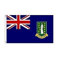 国旗 イギリス領 ヴァージン諸島 90cmx150cm 特大フラッグ【ノーブランド品】