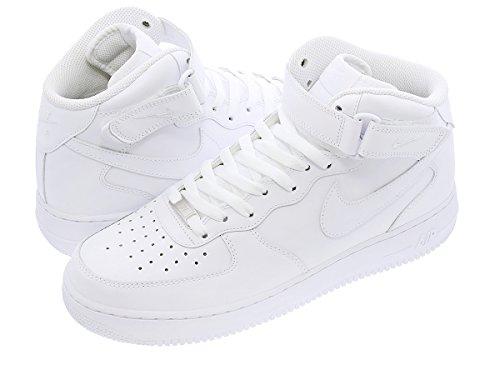 [ナイキ] NIKE AIR FORCE 1 MID '07 WHITE/WHITE 【オールホワイト】【定番】 [並行輸入品]