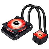 Novonest 水冷一体型CPUクーラー ラジエータ 水冷システム PWMファン超静音 LEDリング搭載 (AM4適用)【CC1201】