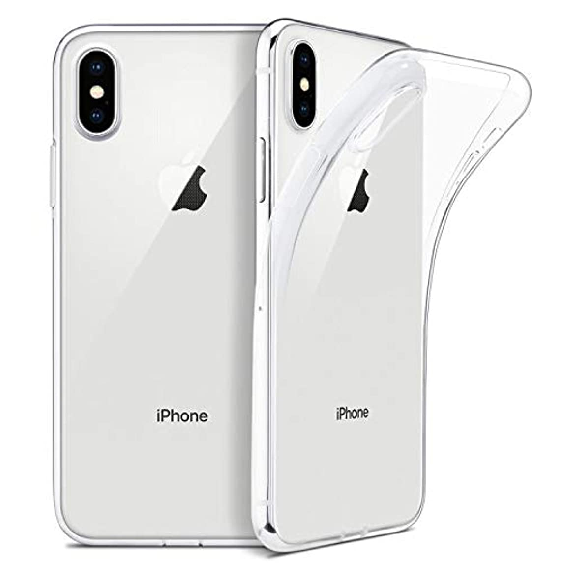 雇用者全く演劇Tonglilili IPhone Xのための細く明確で柔らかいTPUカバーサポート無線充満、IPhone Xの場合のための箱、 (Color : Transparent, Size : For iPhone XR)