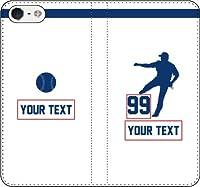 iPhone/Xperia/Galaxy/他機種選択可:野球2箇所カスタム(番号/名前) 手帳ケース(ホーム/デザイン_99:E_1) 02 iPhone5c