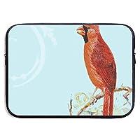 カスタムラップトップスリーブ13/15インチウルトラブックジッパーブリーフケースCardinal Bird on Branchプリントポータブルメッセンジャーバッグ