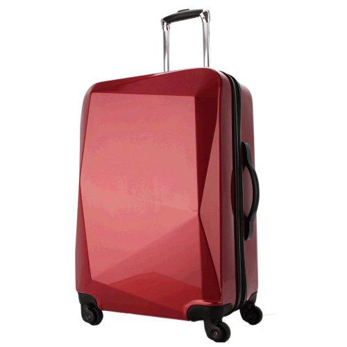 [グリフィンランド]_Griffinland_スーツケース クリスタル (Lサイズ, ルビー(レッド系)) ダイヤルロック式 ファスナー開閉式