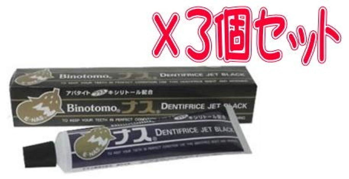 鍔ラフ柔和【まとめて3個セット】ナスハミガキ ブラック 130g×3