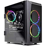 SkyTech Blaze II Gaming Computer PC Desktop – Ryzen 5 2600 6-Core 3.4 GHz, NVIDIA GeForce GTX 1660 TI 6G, 500G SSD, 8GB DDR4, RGB, AC WiFi, Windows 10 Home 64-bit