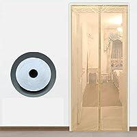 網戸カーテン 蚊帳 マジックテープ付き,マグネット付き簡単網戸 玄関網戸 自動で閉 -110×230センチメートル(43×91インチ)-C