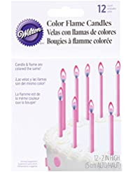 炎の色 12/Pkg-ピンクのキャンドル