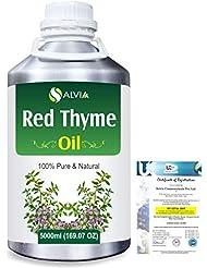 Red Thyme (Thymus Vulgaris) 100% Pure Natural Oil 5000ml/169 fl.oz.
