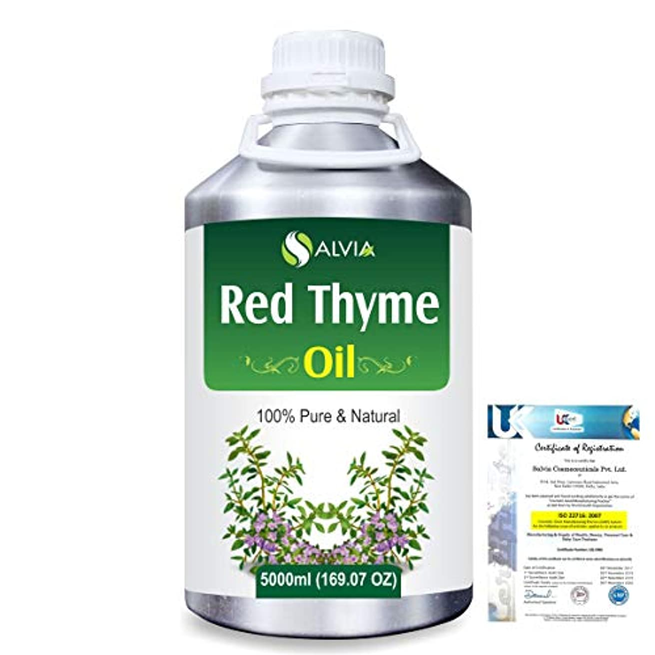 立場起業家発送Red Thyme (Thymus Vulgaris) 100% Pure Natural Oil 5000ml/169 fl.oz.