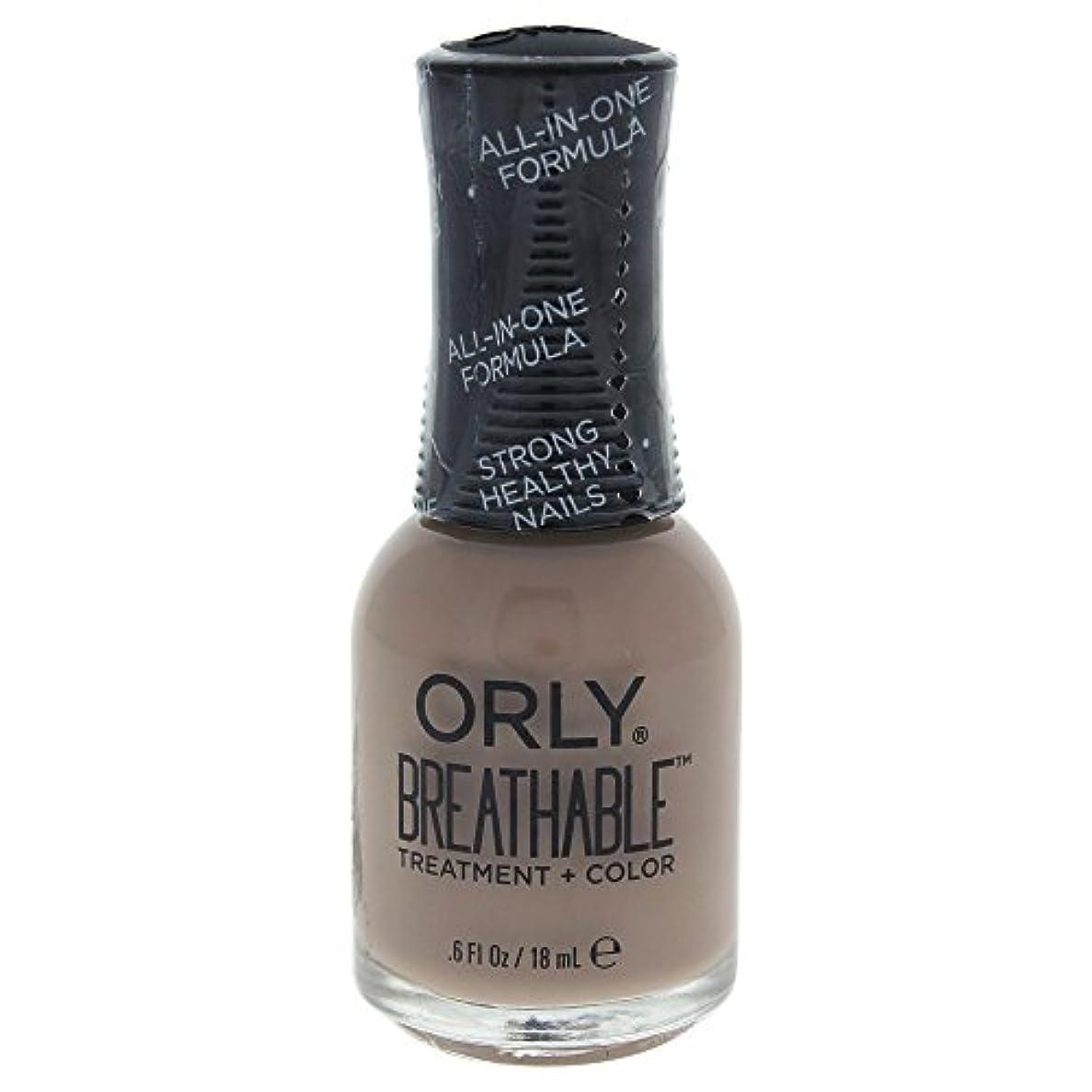 架空のロッカー冷えるOrly Breathable Treatment + Color Nail Lacquer - Down To Earth - 0.6oz / 18ml