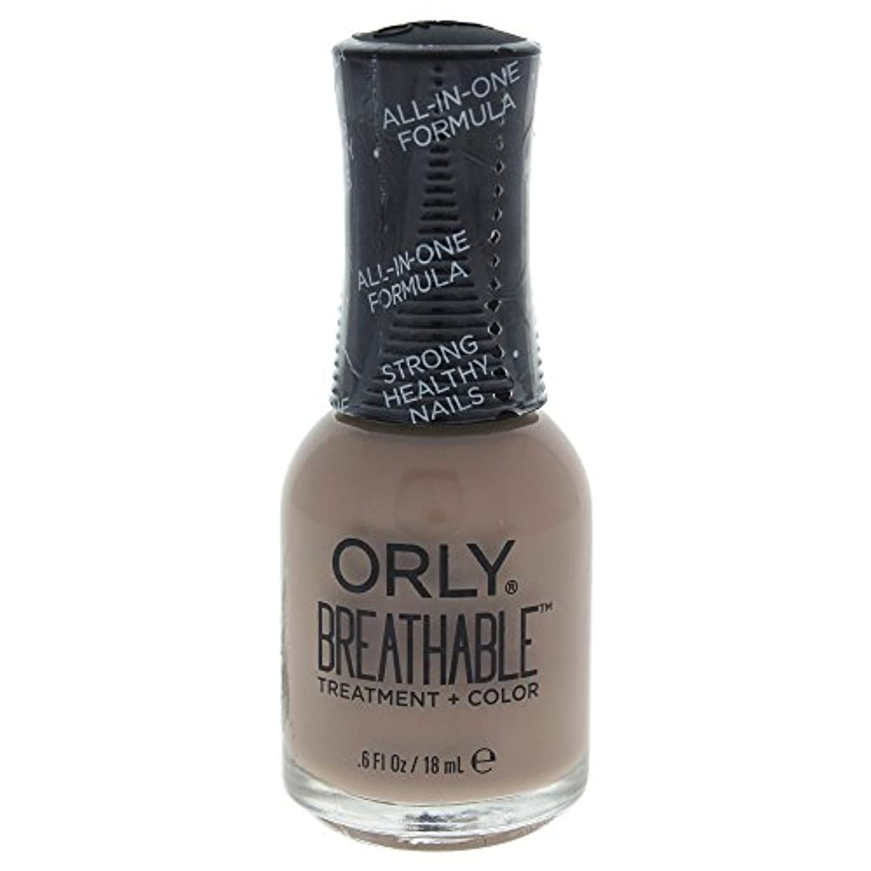 突き出す静的学生Orly Breathable Treatment + Color Nail Lacquer - Down To Earth - 0.6oz / 18ml
