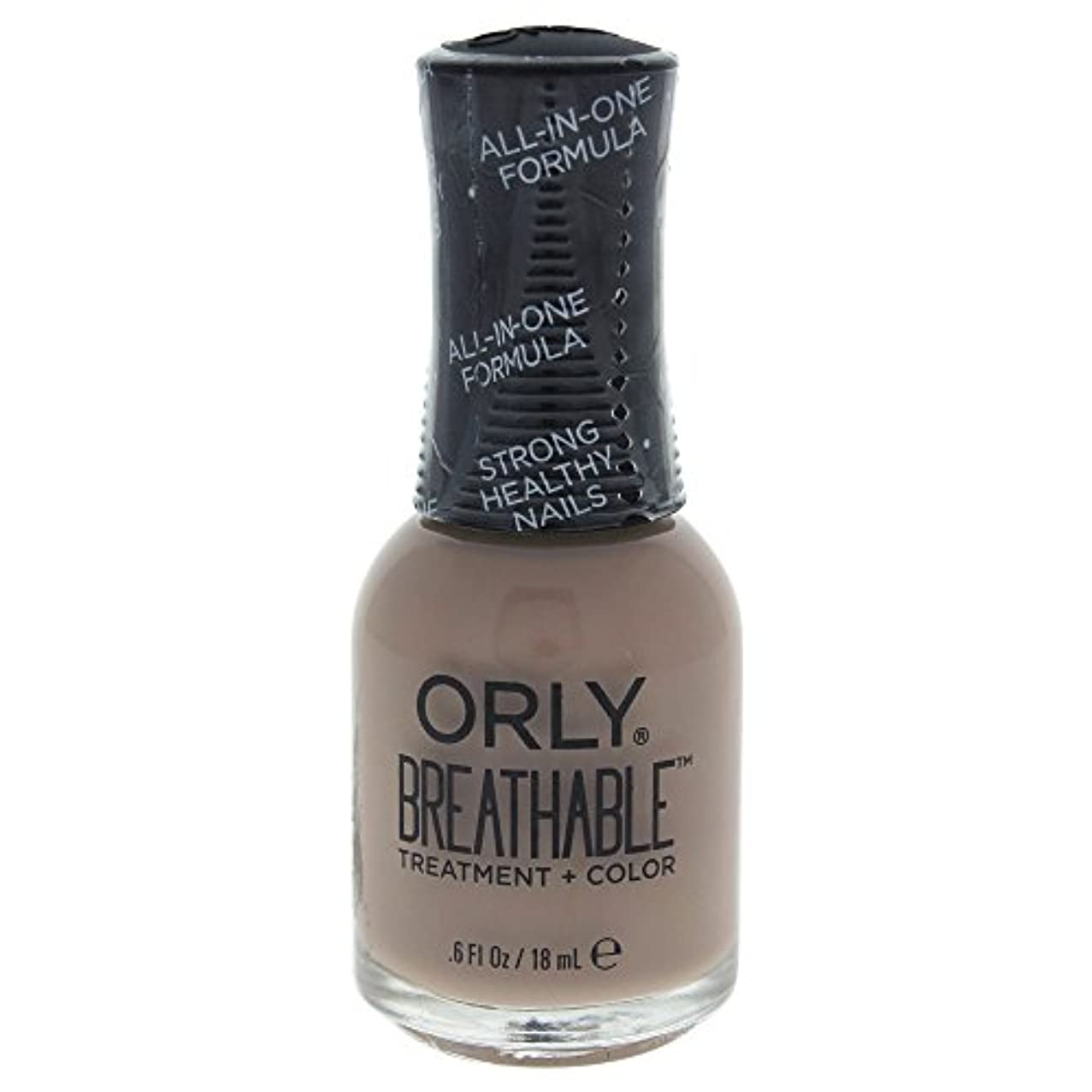 学校の先生同一のフィードオンOrly Breathable Treatment + Color Nail Lacquer - Down To Earth - 0.6oz / 18ml