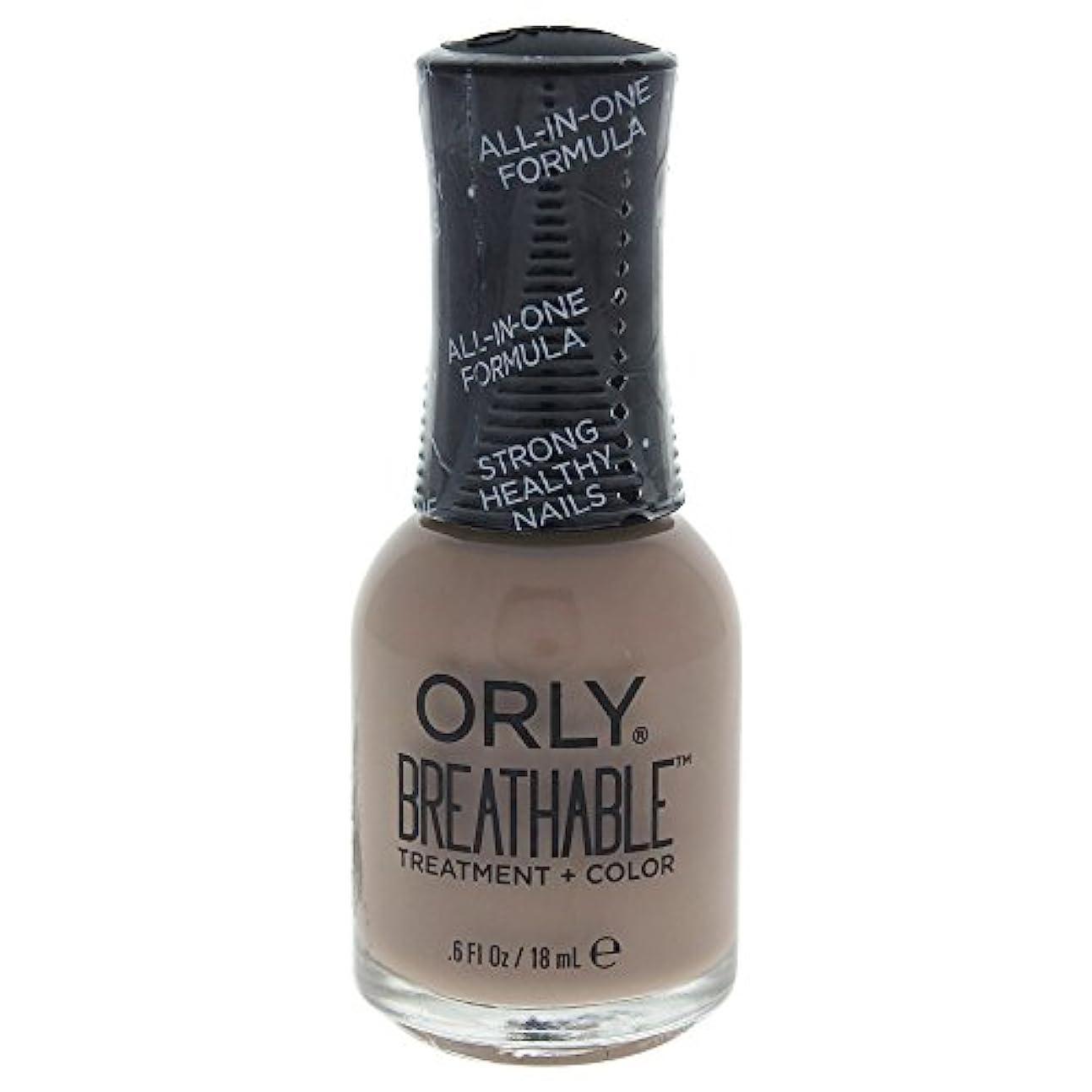 高いウィンク独占Orly Breathable Treatment + Color Nail Lacquer - Down To Earth - 0.6oz / 18ml