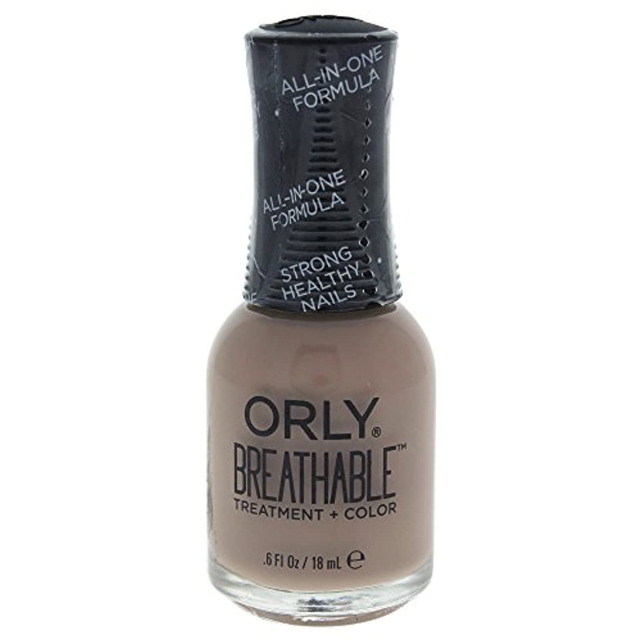 スープ気づくなるパールOrly Breathable Treatment + Color Nail Lacquer - Down To Earth - 0.6oz / 18ml
